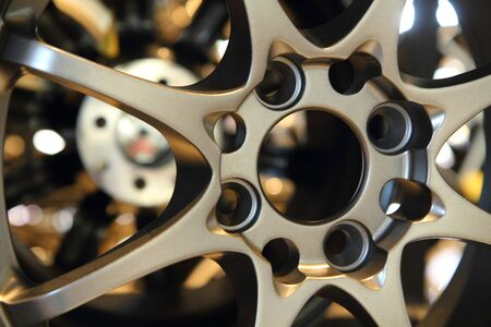 mag: Hole of mag Stock Photo
