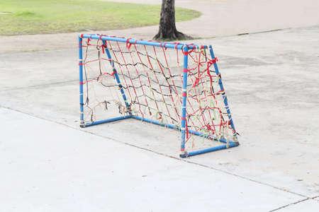 futsal: Low cost goal of local Futsal yard Stock Photo