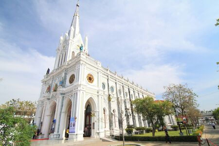 architech: Samut Songkhram, Thailand - December 20, 2015 : Nativity of Our Lady Cathedral