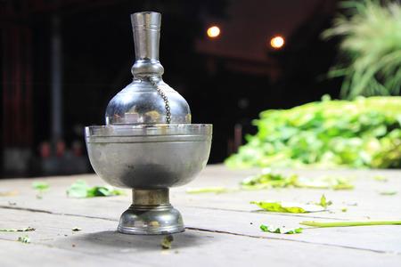 merit: pour water for merit