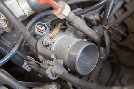 carburettor: carburetor of old car