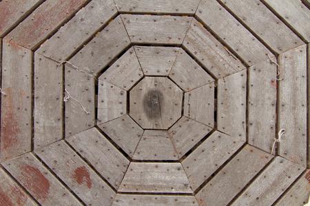 on wood floor: old wood floor 8 angle pattern