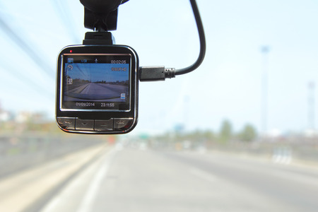 front camera car recorder / Car DVR Vehicle Stock Photo