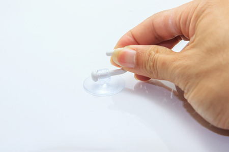 suction: Pull the suction cap from the glass