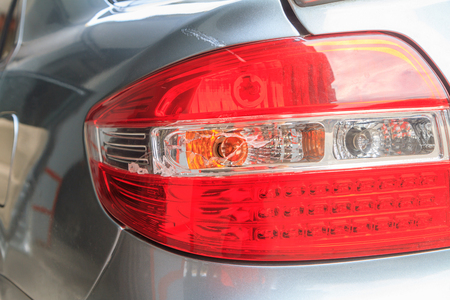 taillight: Taillight broken by accident Stock Photo