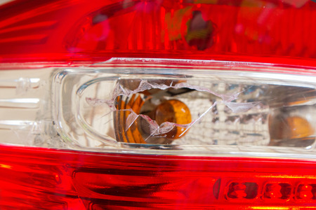 tail light: Tail light broken by accident