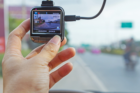 Press the button of front camera car recorder / Car DVR Vehicle