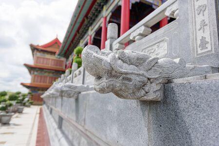 sep: NonTaburi,Thailand - Sep 25 , 2016 : Dragon statue in Dragon Temple Kammalawat