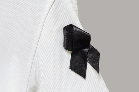 white sleeve: Mourn ribbon at white Sleeve