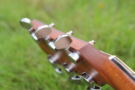 Selective focus to Tuning the guitar strings