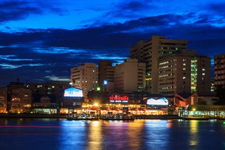 Bangkok , Thailand - 14 July, 2017 : Wang Lang (Siriraj) Pier in twilight time