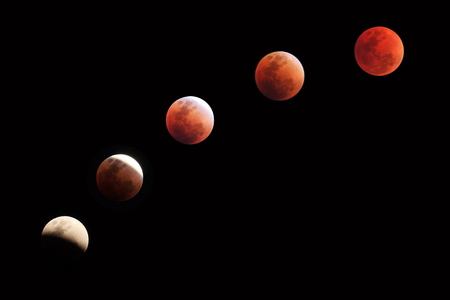 Different Bloody Moon in different time