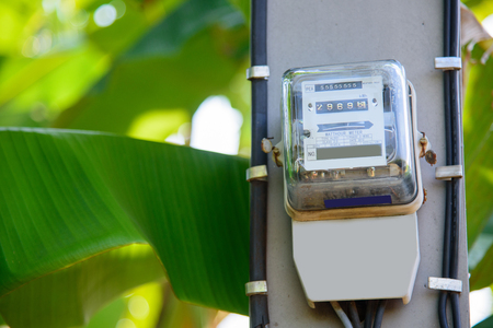 Electricity meter on electric pole