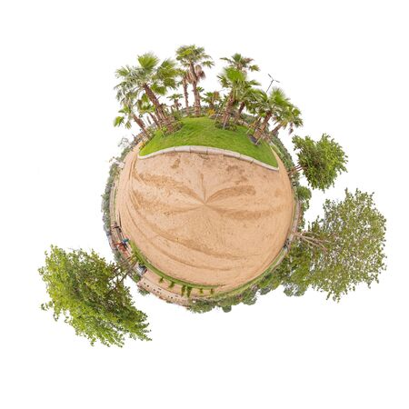 360 Panorama of public park with Clipping path inside  circle panorama of public park Stock Photo