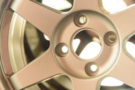 golden mag of car wheel