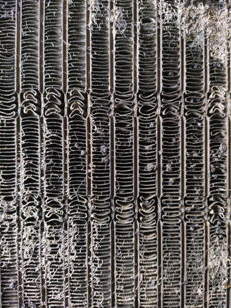 Old and dirty evaporator aircondition of car Banque d'images