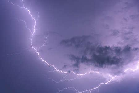 Dark cloud storm with thunder before raining