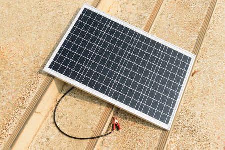 solar cell panel on the ground  with sunlight 版權商用圖片 - 167570313
