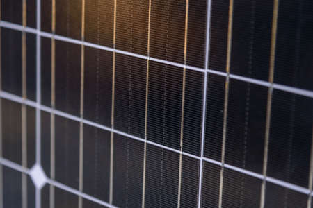 solar cell panel on the ground  with sunlight 版權商用圖片