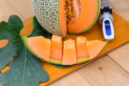 fresh orange melon on the plate