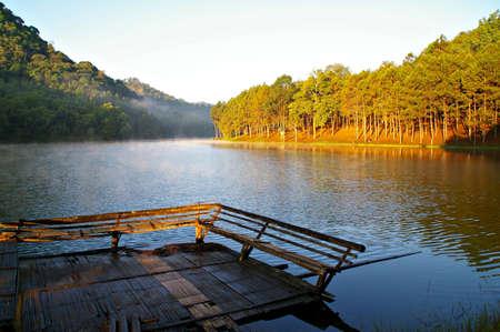 Morning time at national park pang oung Maehongson Province, North of Thailand