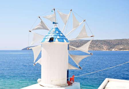 windmill, Amorgos island Stock Photo