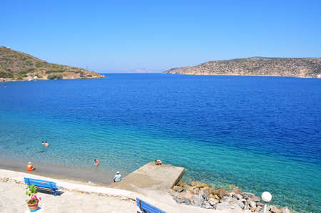 Katapola beach at amorgos island, Greece, The island of dreams for a rest and relaxation Stock Photo