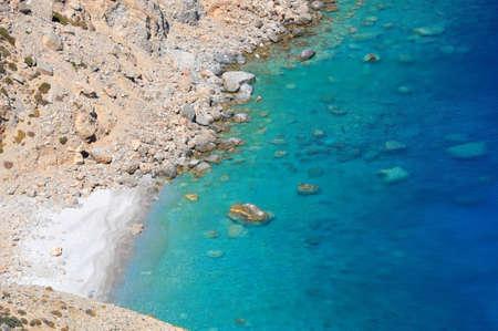 Mouros A very popular pebble beach in amorgos island