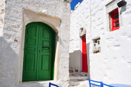 Old traditional house in minoa ancient capital of Amorgos island