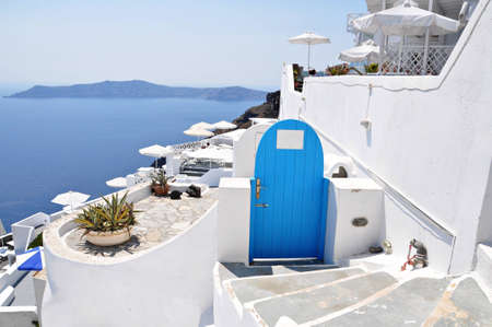 Endless blue and white in Santorini island photo