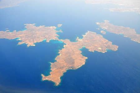 Island in the sun, Cyclades Stock Photo