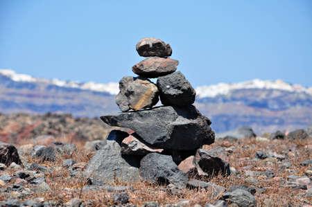 Volcanic rock, santorini