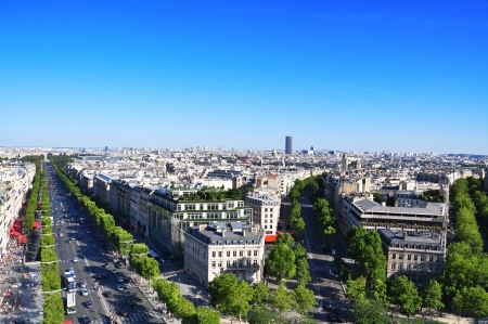 The Champs-Elys�es seen from the Arc de Triomphe Stock Photo
