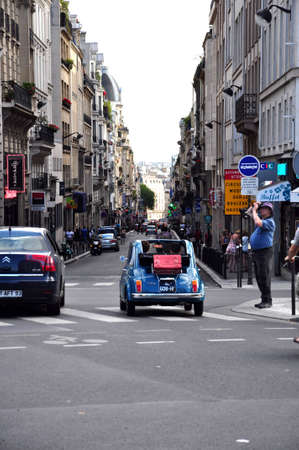Paris France, Foto taken at 29th August 2012 – A long street at day in Paris Editorial