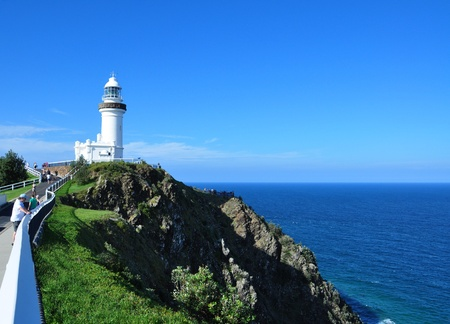 Byron Bay lighthouse at day, New South Wales Australia photo