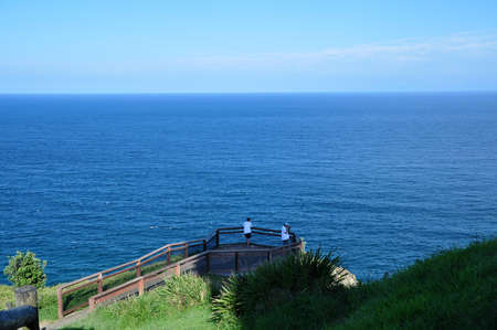 Lookout point above the ocean in Byron bay