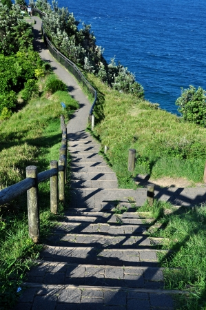 byron: Walkway to Beach Byron Bay, Australia Stock Photo
