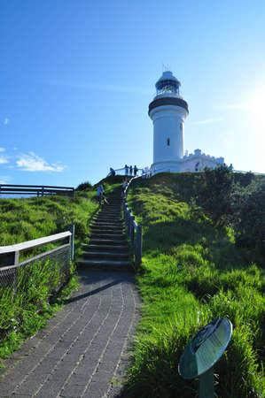 Walkway to Byron Bay Lighthouse, Australia photo