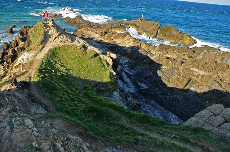 Rocky coasst on cape byron bay, Australia