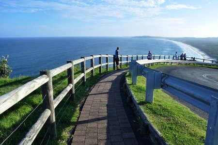 Walkway lead to byron beach