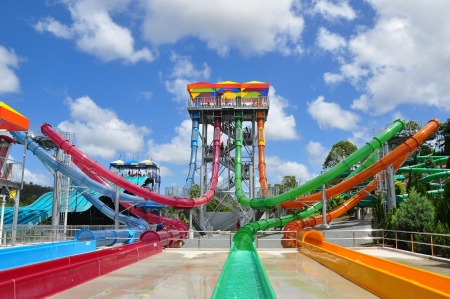 Gold Coast, Australia, Photo taken at 19th January 2011-Colorful aqua park tube at Wet�n �Wild Water World
