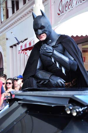 Gold Coast, Australia, Photo taken at 19th January 2011 – Star parade fantasy show Batman at Movie World on the Gold Coast, Australia Editorial
