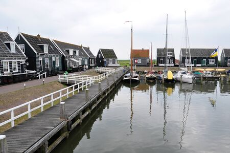Beautiful fishing villages of Dutch countryside, Netherlands