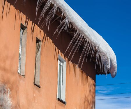 melts: Icicles on the roof