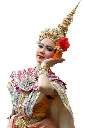 This is the ancient acting of Khon-Thai classical masked ballet in Thailand Stock fotó