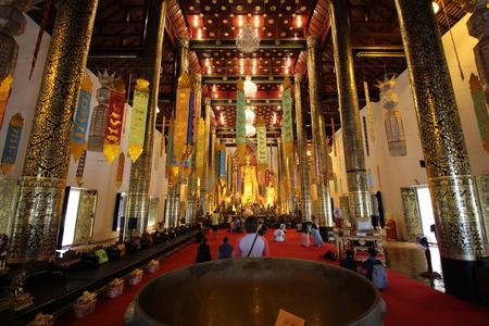 chiangmai: Wat Chedi Luang.Temples in ChiangMai,Thailand.