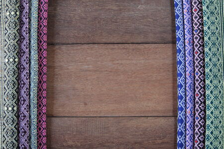 Hand-woven cloth from the northern Thai. photo