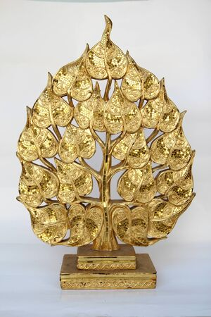 wood carvings: Wood carvings, gold color, white background.