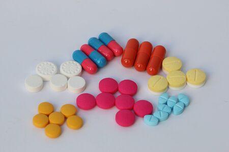 alimentary: Spilled pills of drug or alimentary supplement.