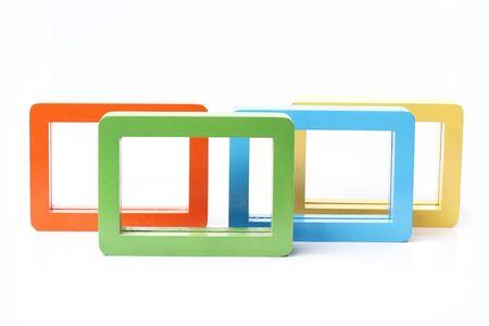 rectangular: Rectangular frame color white backdrop.